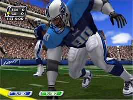 In game image of NFL Blitz 20-02 on the Microsoft Xbox.