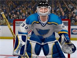 In game image of NHL 2004 on the Microsoft Xbox.