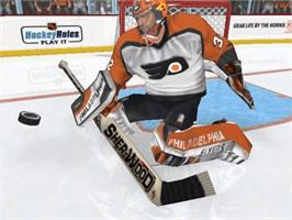 In game image of NHL 2K3 on the Microsoft Xbox.
