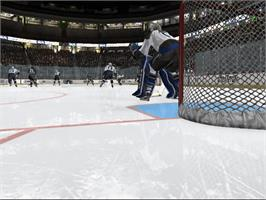 In game image of NHL 2K6 on the Microsoft Xbox.
