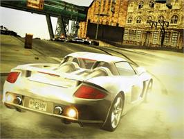 In game image of Need for Speed: Most Wanted (Black Edition) on the Microsoft Xbox.