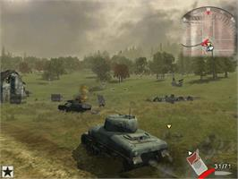 In game image of Panzer Elite Action: Fields of Glory on the Microsoft Xbox.