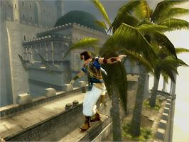 In game image of Prince of Persia: The Sands of Time on the Microsoft Xbox.