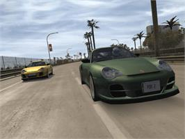 In game image of Project Gotham Racing 2 on the Microsoft Xbox.