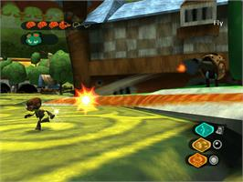 In game image of Psychonauts on the Microsoft Xbox.