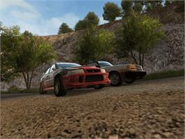 In game image of RalliSport Challenge 2 on the Microsoft Xbox.