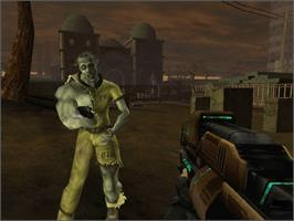 In game image of Red Faction 2 on the Microsoft Xbox.