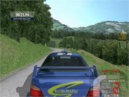 In game image of Richard Burns Rally on the Microsoft Xbox.