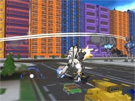 In game image of Robotech: Battlecry on the Microsoft Xbox.