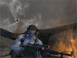 In game image of Rogue Trooper on the Microsoft Xbox.