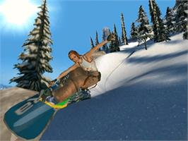 In game image of SSX 3 on the Microsoft Xbox.