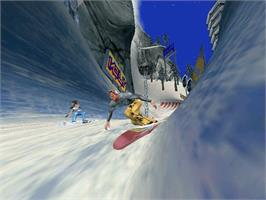 In game image of SSX Tricky on the Microsoft Xbox.