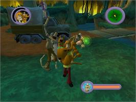 In game image of Scooby Doo!: Night of 100 Frights on the Microsoft Xbox.