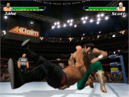 In game image of Showdown: Legends of Wrestling on the Microsoft Xbox.