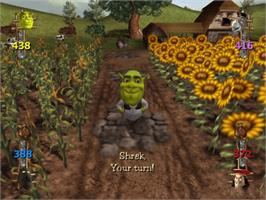 In game image of Shrek Super Party on the Microsoft Xbox.