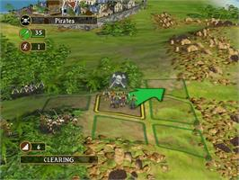 In game image of Sid Meier's Pirates on the Microsoft Xbox.