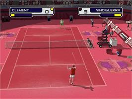 In game image of Slam Tennis on the Microsoft Xbox.