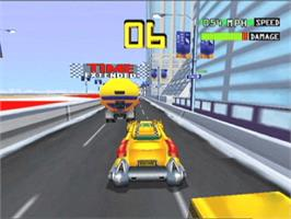 In game image of Smashing Drive on the Microsoft Xbox.