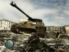 In game image of Sniper Elite: Berlin 1945 on the Microsoft Xbox.