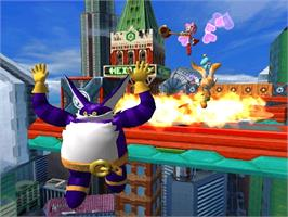 In game image of Sonic Heroes on the Microsoft Xbox.