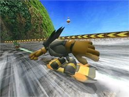 In game image of Sonic Riders on the Microsoft Xbox.