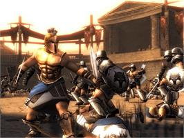 In game image of Spartan: Total Warrior on the Microsoft Xbox.