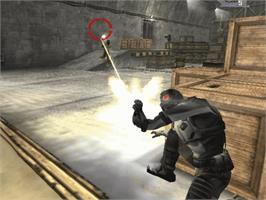 In game image of Special Forces: Nemesis Strike on the Microsoft Xbox.