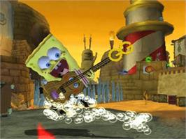 In game image of SpongeBob SquarePants: The Movie on the Microsoft Xbox.