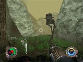 In game image of Star Wars: Jedi Knight II - Jedi Outcast on the Microsoft Xbox.