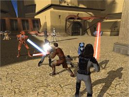 In game image of Star Wars: Knights of the Old Republic on the Microsoft Xbox.