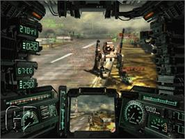 In game image of Steel Battalion: Line of Contact on the Microsoft Xbox.