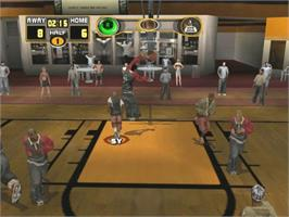 In game image of Street Hoops on the Microsoft Xbox.