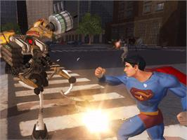 In game image of Superman Returns on the Microsoft Xbox.