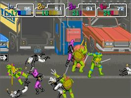 In game image of Teenage Mutant Ninja Turtles 2: Battle Nexus on the Microsoft Xbox.