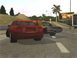 In game image of Test Drive on the Microsoft Xbox.