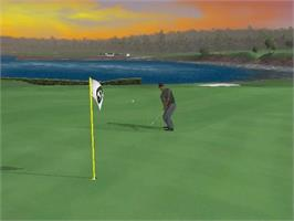 In game image of Tiger Woods PGA Tour 2005 on the Microsoft Xbox.