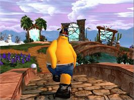 In game image of ToeJam & Earl III: Mission to Earth on the Microsoft Xbox.