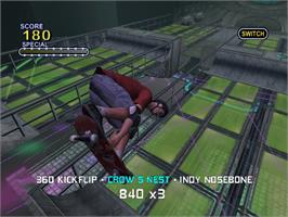 In game image of Tony Hawk's Pro Skater 2x on the Microsoft Xbox.
