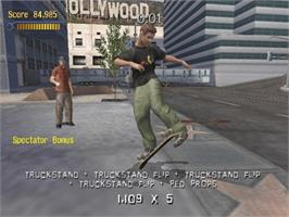 In game image of Tony Hawk's Pro Skater 3 on the Microsoft Xbox.