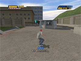 In game image of Tony Hawk's Pro Skater 4 on the Microsoft Xbox.