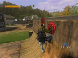 In game image of Tony Hawk's Project 8 on the Microsoft Xbox.