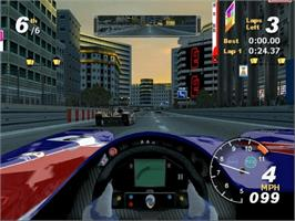 In game image of Total Immersion Racing on the Microsoft Xbox.