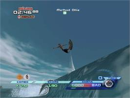 In game image of TransWorld SURF on the Microsoft Xbox.