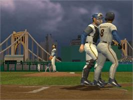 In game image of Triple Play 2002 on the Microsoft Xbox.