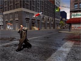 In game image of True Crime: New York City on the Microsoft Xbox.
