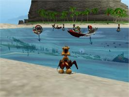 In game image of Ty the Tasmanian Tiger on the Microsoft Xbox.
