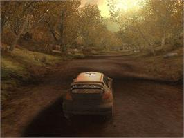 In game image of V-Rally 3 on the Microsoft Xbox.