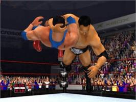 In game image of WWF Raw on the Microsoft Xbox.