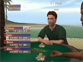 In game image of World Championship Poker on the Microsoft Xbox.