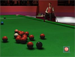 In game image of World Championship Pool 2004 on the Microsoft Xbox.